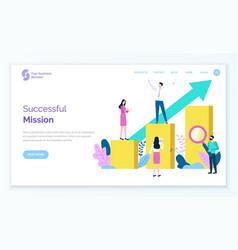 Successful mission businessman leader achievement vector