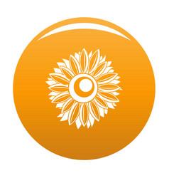 Summer sunflower icon orange vector