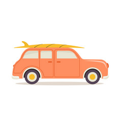 summer vacation car isolated vector image