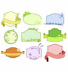 tags boarder vector image