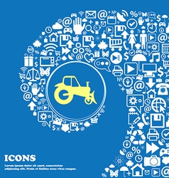 Tractor sign icon Nice set of beautiful icons vector image