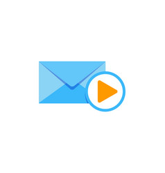 video mail logo icon design vector image