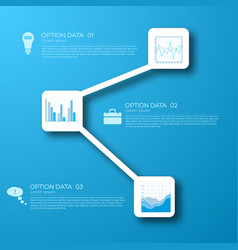 web business infographic concept vector image