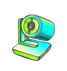 web camera modern digital gadget color vector image