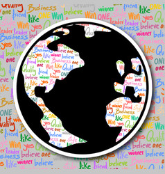 world art icon vector image
