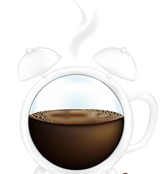 Coffee Cup Alarm Clock vector image