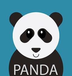 Cute Panda bear cartoon flat icon avatar vector image vector image