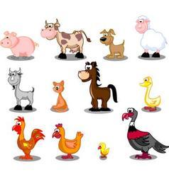 Domestic animals vector image vector image