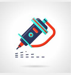 industrial engraver flat color icon vector image vector image