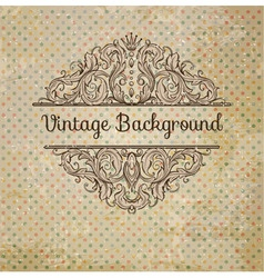 Retro Background With Vintage Elements vector image vector image
