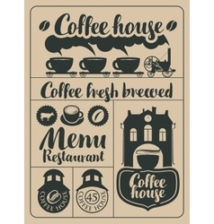 coffee and hot drinks vector image
