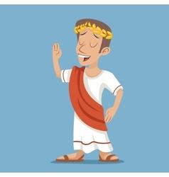 Greek Roman Retro Vintage Businessman Cartoon vector image vector image