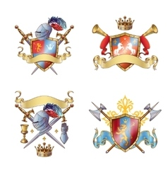 Knight Colorful Emblems vector image