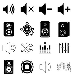 Music sound icons set vector image