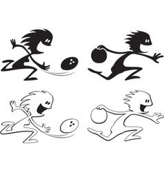shadow people bowlers vector image vector image
