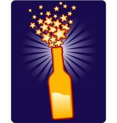 bottle star vector image