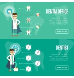 Dental office horizontal website templates vector image vector image