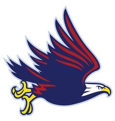 eagle mascot flying vector image