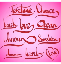 Greetings hand lettering set vector image vector image