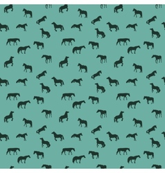 Horse Runs Hops Gallops Isolated Seamless Pattern vector image vector image