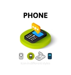 Phone icon in different style vector image vector image