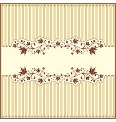 Retro autumn card vector