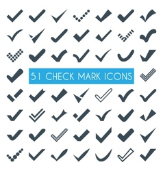 Set of different check marks or ticks vector image