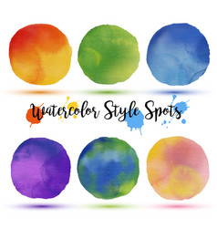 colors balls in watercolor style vector image vector image