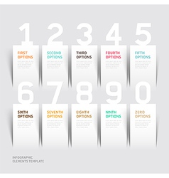 Infographics number options template vector image vector image