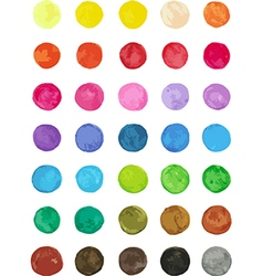 Set of multicolored watercolor dots vector image vector image