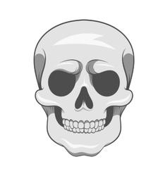 Skull icon black monochrome style vector image