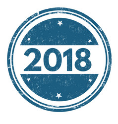 2018 grunge rubber stamp vector image