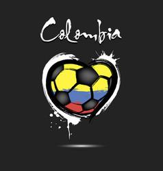 4544 - switzerland heart soccer vector image