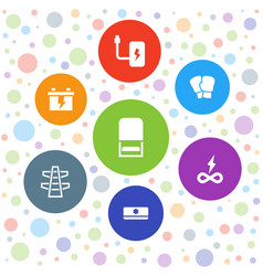 7 supply icons vector