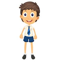 A boy in school uniform vector