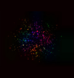 a cluster of glowing lights of different sizes vector image