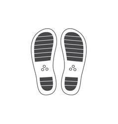 abstract footwear flat footprint black icon vector image