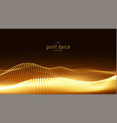 Abstract golden particle wave points array vector