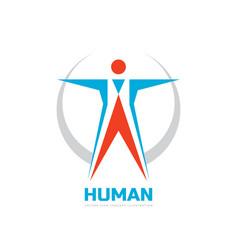 abstract human character - business logo vector image