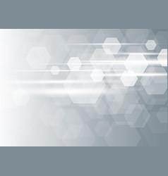 abstract modern hexagon background vector image