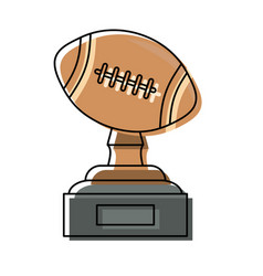 american football trophy design vector image