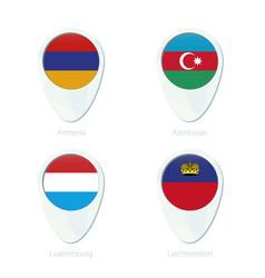 Armenia azerbaijan luxembourg liechtenstein flag vector
