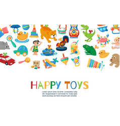baby toys to play funny vector image