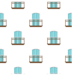 Balcony in french style pattern flat vector