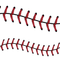 Baseball Lace Background7 vector image