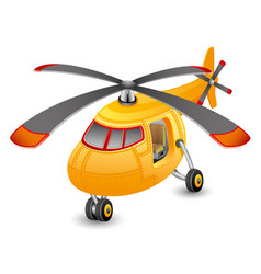 beautiful orange helicopter vector image