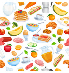 Breakfast seamless vector