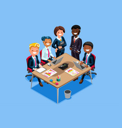 Business character cartoon isometric people vector