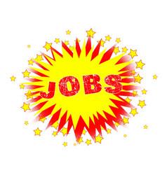 Cartoon yellow jobs splash vector