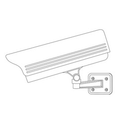 Cctv security camera side view outline drawing vector